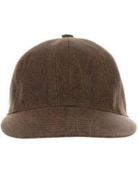 Etro Paisley Baseball Cap - Brown