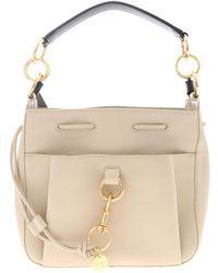 See By Chloé Medium Tony Cement Beige Handbag - Natural