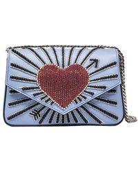 Les Petits Joueurs - Light-blue Ivy Heart Cupid Shoulder Bag - Lyst