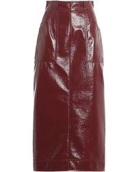 Philosophy Di Lorenzo Serafini Faux Leather High Waist Skirt - Red
