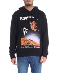 70247268 KENZO Black Spaced Out Hoodie in Black for Men - Lyst