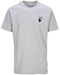 Off-White c/o Virgil Abloh T-Shirt Marker Grigia - Grigio