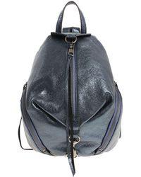 Blue laminated Julian backpack Rebecca Minkoff qY6U5kl75G