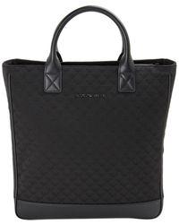 Emporio Armani Monogram Print Tote Bag - Black