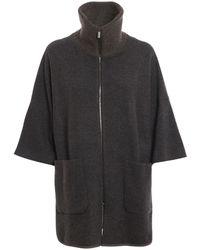 Fabiana Filippi Knitted Wool Blend Short Coat - Brown