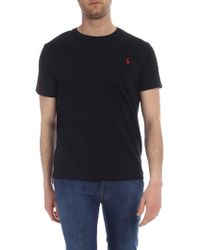 Polo Ralph Lauren Logo Embroidered T-shirt - Black