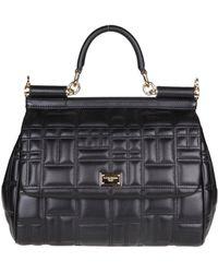 Dolce & Gabbana - Black Leather Miss Sicily Handbag - Lyst