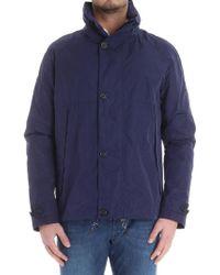Z Zegna - Blue Hooded Jacket - Lyst