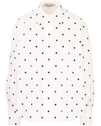 Valentino Maxi Sequins Shirt - White
