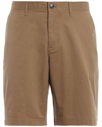 Michael Kors Khaki Stretch Cotton Short Trousers - Brown
