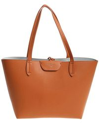 Patrizia Pepe - Tan Colored And Light Blue Reversible Shopping Bag - Lyst