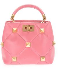 Valentino Garavani - Small Roman Stud Handbag - Lyst