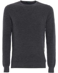 Zanone Virgin Wool Blend Jumper - Grey