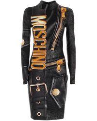 Moschino Macro Biker Dress - Black