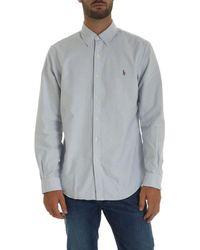 Ralph Lauren Blue Striped White Shirt