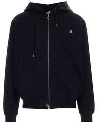 Vivienne Westwood Orb Logo Embroidery Sweatshirt - Black