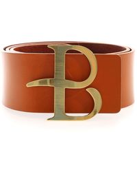 Ballantyne Logo Buckle Belt In Rust Colour - Brown