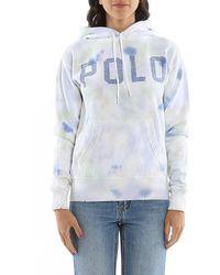 Polo Ralph Lauren Felpa Con Cappuccio Tie-Dye Multicolor - Blu