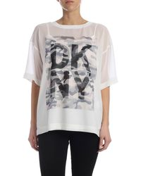 DKNY Camouflage Printed T-shirt - Multicolour