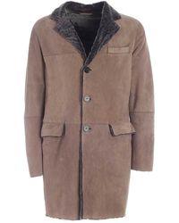 Emporio Armani Sheepskin Coat - Natural