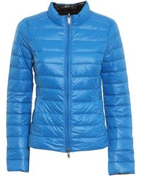 Patrizia Pepe Reversible Quilted Puffer Jacket - Blue
