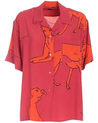 PS by Paul Smith Dog Print Shirt - Red
