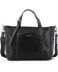 Twin Set Faux Leather Tote - Black