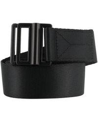 Y-3 Logo Print Nylon Belt - Black
