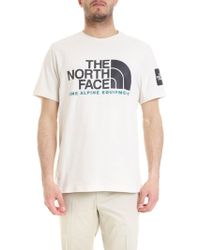 The North Face Maxi Logo T-shirt In White