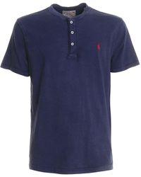 Polo Ralph Lauren Three Button Logo T-shirt - Blue