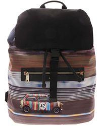 Paul Smith Racing Mini Print Backpack - Black