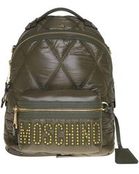 Moschino Quilted Backpack In Army Green