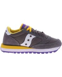 Saucony Grey And Yellow Jazz Original Trainers