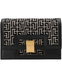 Balmain 1945 Small Clutch Bag - Black