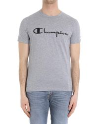 Paolo Pecora - Gray Melange T-shirt (champion Collaboration) - Lyst