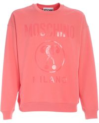 Moschino Double Question Mark Sweatshirt - Pink