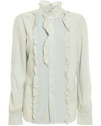 Polo Ralph Lauren Ruffled Denim Shirt - Blue