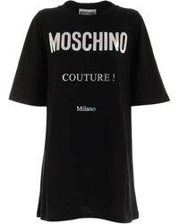 Moschino Holographic Logo Mini Dress - Black