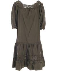 P.A.R.O.S.H. - Canyox Flounces Dress - Lyst