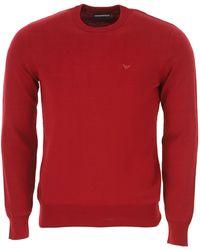 Emporio Armani Maglia Rossa Con Logo - Rosso