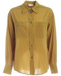 Ballantyne Loose Fit Silk Shirt - Green