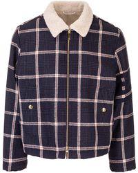 Thom Browne Prince Of Wales Printed Jacket - Blue