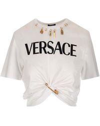 Versace Safety Pin Logo T-shirt - White
