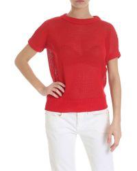 Zanone Pierced T-shirt In Red