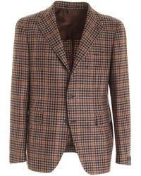 Tagliatore Single-breasted Jacket - Brown