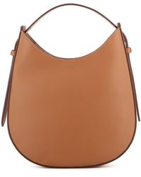 Tod's Grained Leather Small Hobo Bag - Brown