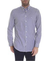 online retailer 3b3fb 605f3 Camicia button-down a righe bianca e blu