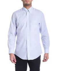 Brooks Brothers - Light Blue And Red Striped Button Down Shirt - Lyst
