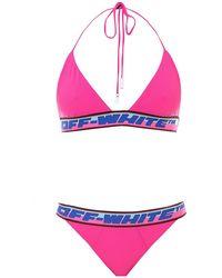 Off-White c/o Virgil Abloh - Bikini Logato Rosa - Lyst