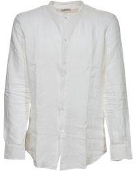Paolo Pecora Mandarin Collar Shirt - White